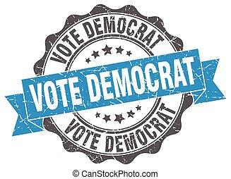 stem, teken., stamp., democraat, zeehondje