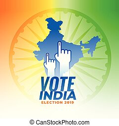 stem, voor, india, verkiezing, achtergrond