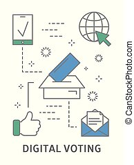 stemme, illustration., digitale