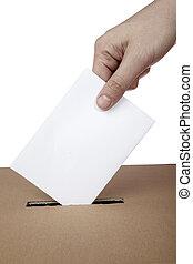 stemmeseddel, stemme, stemme, æske, politik, valg, valg