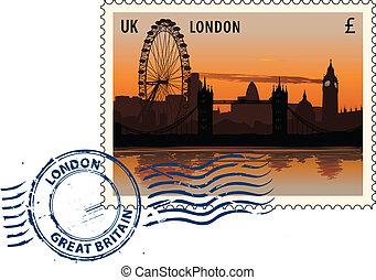 stempel pocztowy, londyn