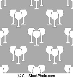 Stemware seamless pattern - Stemware white and black...