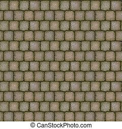 sten, belägga med tegel, trottoar, struktur