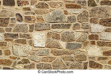 sten, gammal, vägg, seamless, struktur, ashlar, bakgrund