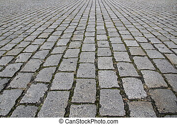 sten, gata, trottoar, väg, struktur