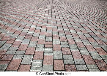 sten, gata, väg, trottoar, struktur