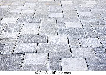 sten, interlocking, privat väg