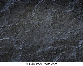 sten, svart fond