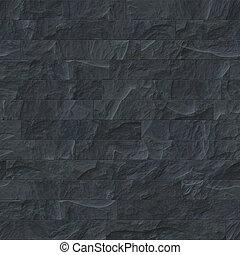 sten, svart, seamless, struktur