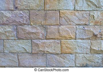 sten, tegelsten, återuppstå, nymodig, vägg