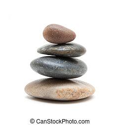 stenar, balanserad, hög