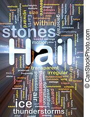 stenar, glödande, begrepp, hagel, bakgrund