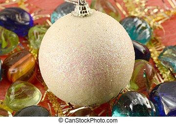 stenar, klumpa ihop sig, sätta, inbjudan, (christmas), år, färsk, helgdag, kort