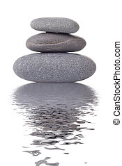 stenar, kurort, vit, reflexion, isolerat