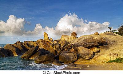 stenar, thailand, valentina, strand, samui