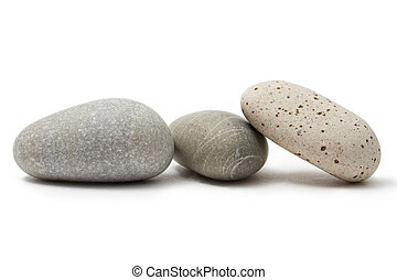 stenar, vit, isolerat, bakgrund