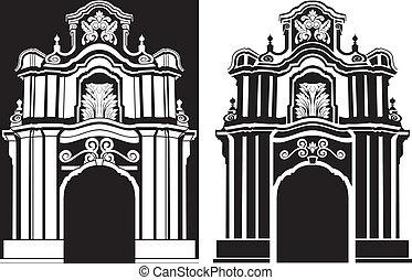 stencil, 拱, 古典