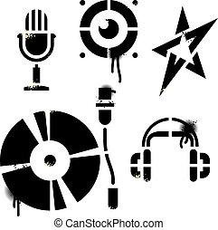 stencil, 音樂, 圖象