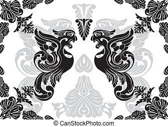 stencil, főnix madár