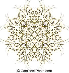 stencil, indien, mandala, conception