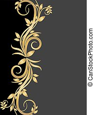 Stencil of gold flowers