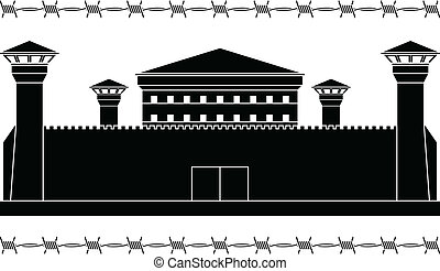 stencil of prison. vector illustration