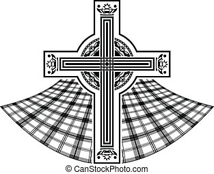 stencil of scottish celtic cross