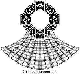 stencil of scottish celtic ring