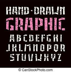 stencil-plate, betűtípus, sanserif