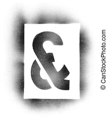 Stencil symbols in spray paint - &