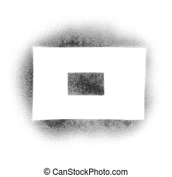 Stencil symbols in spray paint - dash