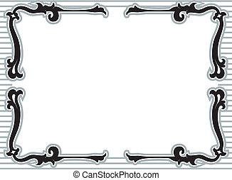 Stencil Vine Frame