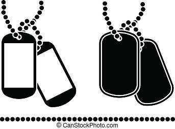 stencils of dog tags