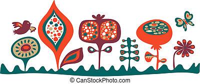 stendardo floral