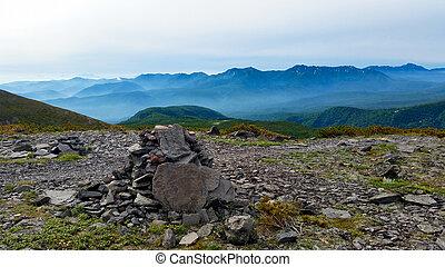 stenen, bergen, stapel, alpien