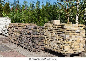 stenen, decoratieve tuin, aambeien, centrum, verkoop