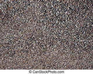 stenen, doppen, bovenzijde, zand, nat, kleine, fragmenten, aanzicht