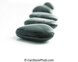 stenen, het schrijden