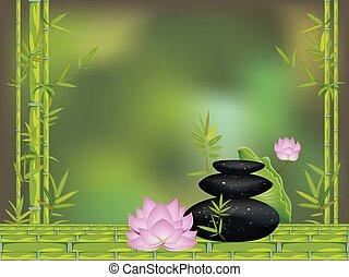 stenen, lotus, zen