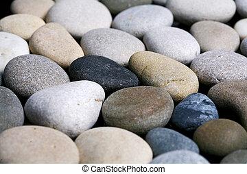 stenen, textuur, achtergrond, zwarte zee, witte , kiezelsteen