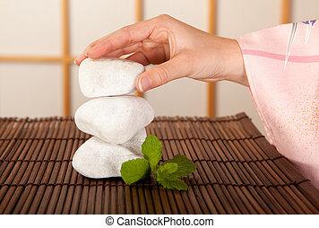 stenen, zen, sereniteit