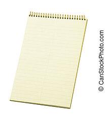 stenographer's, fodra, anteckningsblock