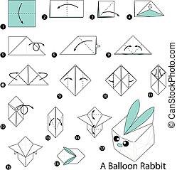 Origami Bunny Rabbit | Paper crafts origami, Origami, Rabbit crafts | 179x190