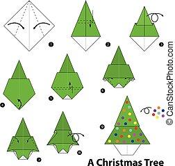 origami A Christmas tree.