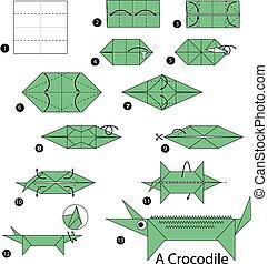 origami A Crocodile.