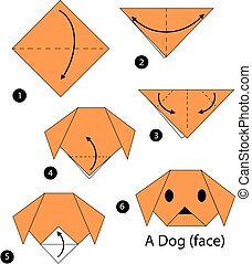 origami A Dog. - step by step instructions how to make...