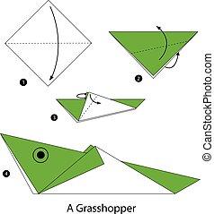 origami a Grasshopper.