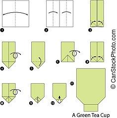 Origami A Green Tea Cup