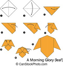 origami A Morning Glory. - step by step instructions how to...