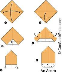 origami an Acorn.